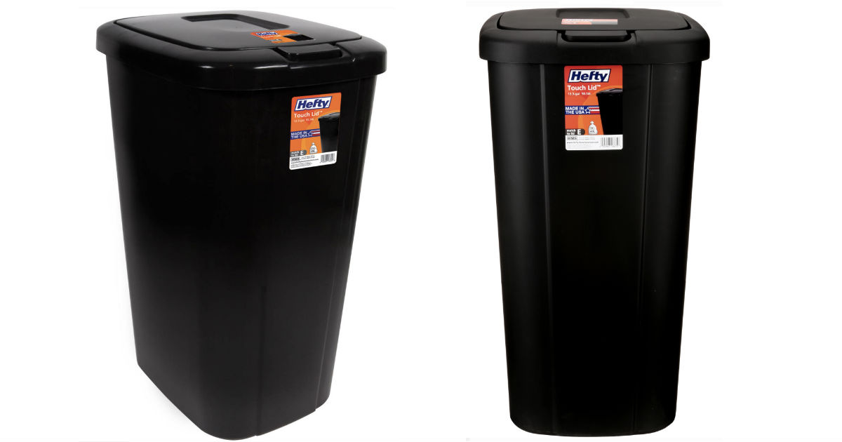 Hefty 13.3-Gallon Trash Can ONLY $8.50 (reg $14.47) at Walmart