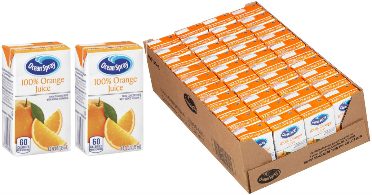 Ocean Spray Orange Juice Boxes...