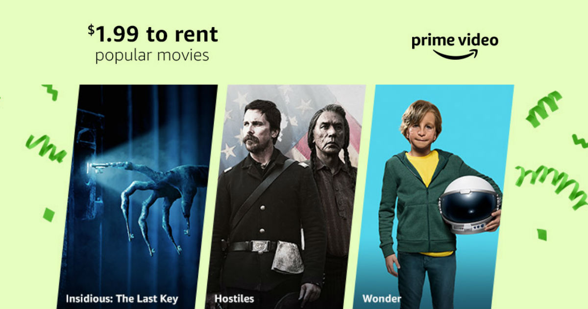 $1.99 Movie Rentals on Amazon - Prime Day Deal