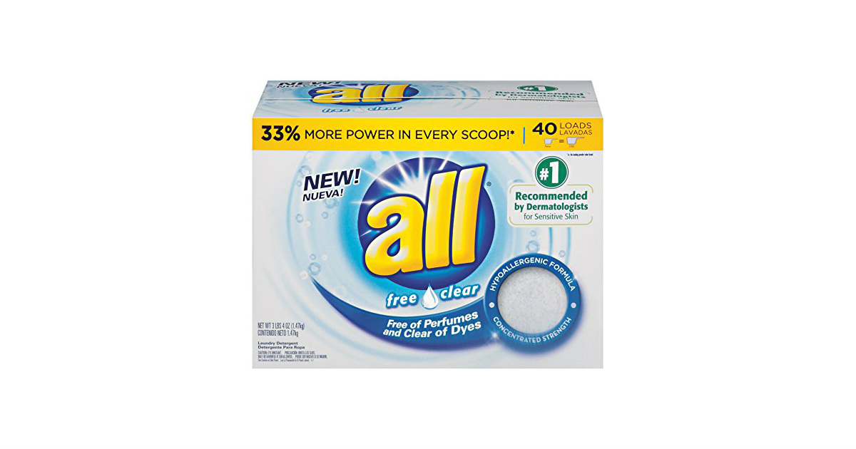 All Free & Clear laundry detergent deal at Amazon