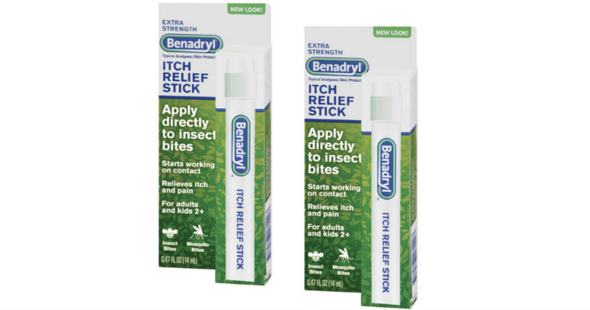 Benadryl Itch Relief Stick ONLY $1.62 at Walgreens