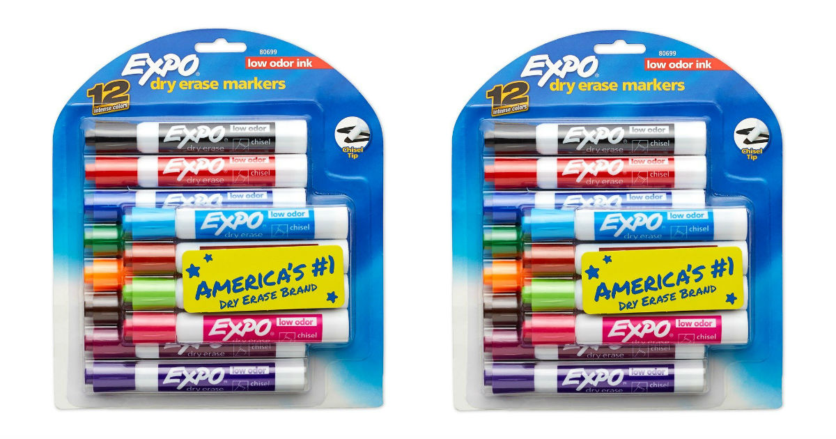 Expo Dry Erase Assorted Color Markers ONLY $7.18 (reg. $17.99)