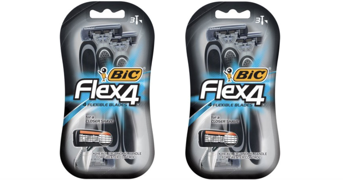 BIC Flex 4 Disposable Razor at Walmart