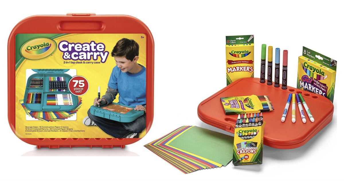 Crayola Create & Carry Case 75-Piece Kit ONLY $6.50 (reg $15)