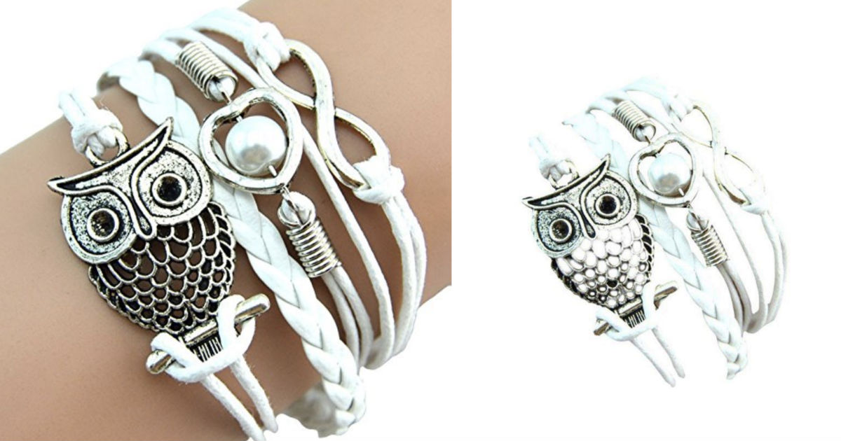 Owl Pearl Friendship Charm Leather Bracelets ONLY $2.98 Shipped!
