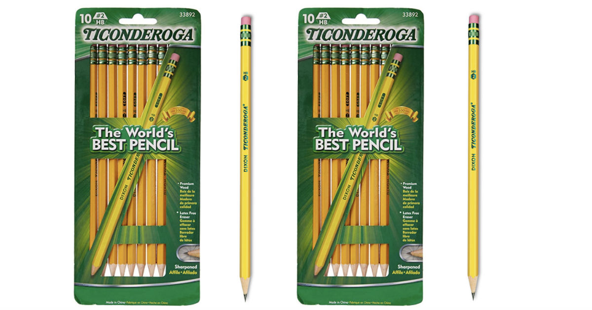 Ticonderoga 10-ct Pencils ONLY $0.99 at Walgreens