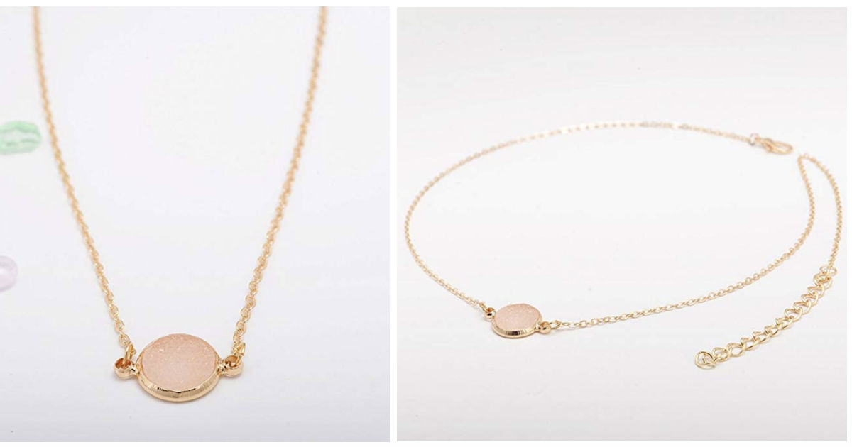 Circle Gold Chain Choker Neckl...