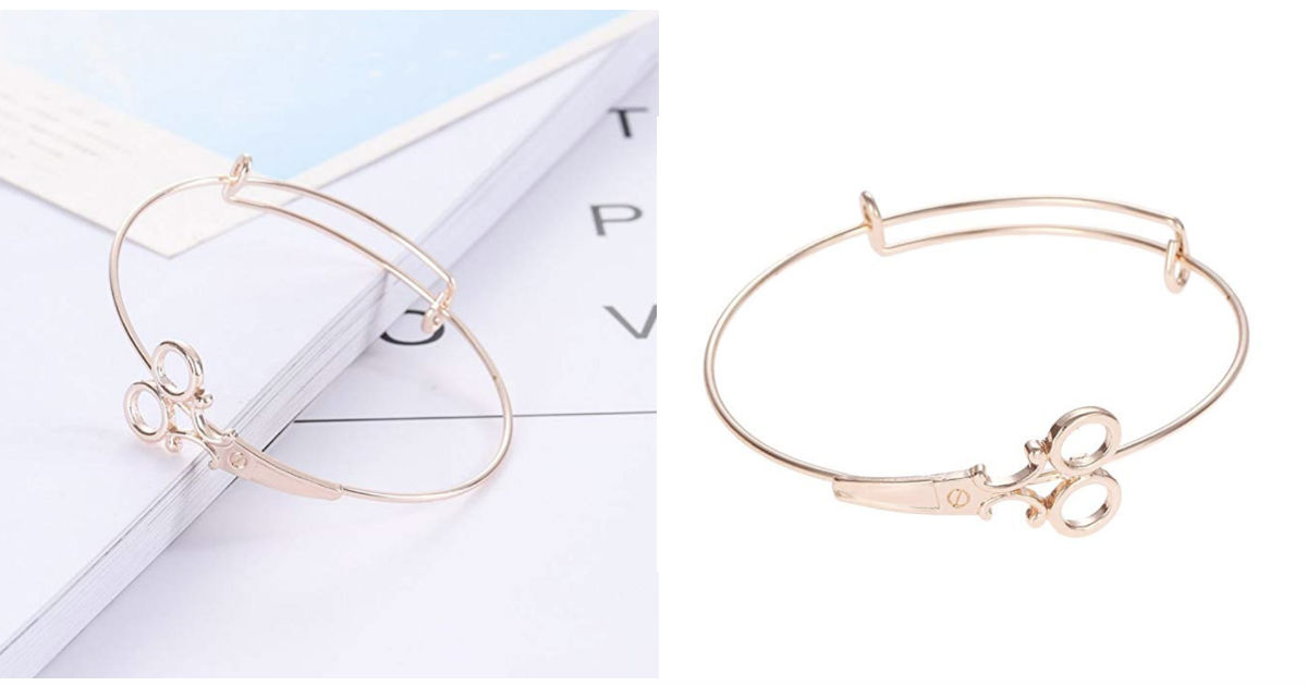 Scissors Design Pendant Bracelet ONLY $1.57 Shipped!