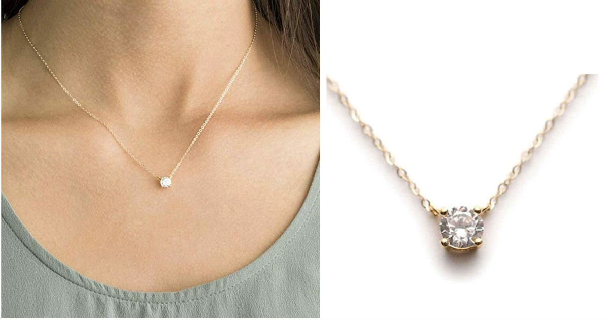 Crystal Pendant Choker Chain Necklace $1.78 Shipped!