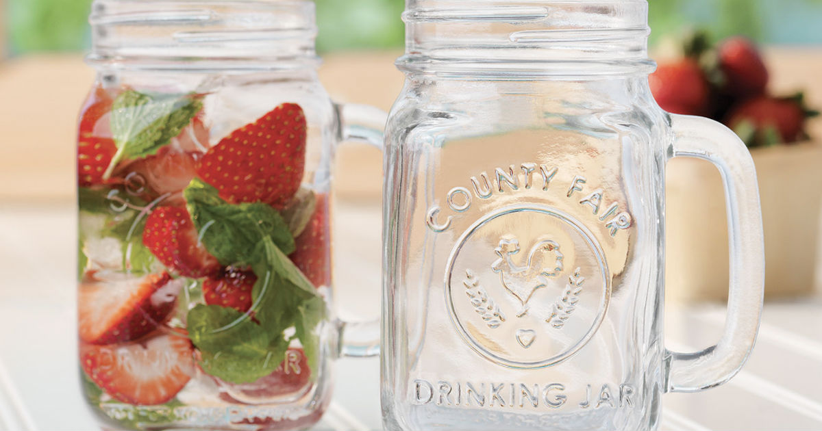 Libbey Handled Drinking Jar 8-Piece Set