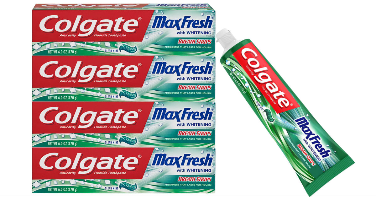 Colgate Max Fresh Toothpaste 4-count ONLY $5.98 at Amazon