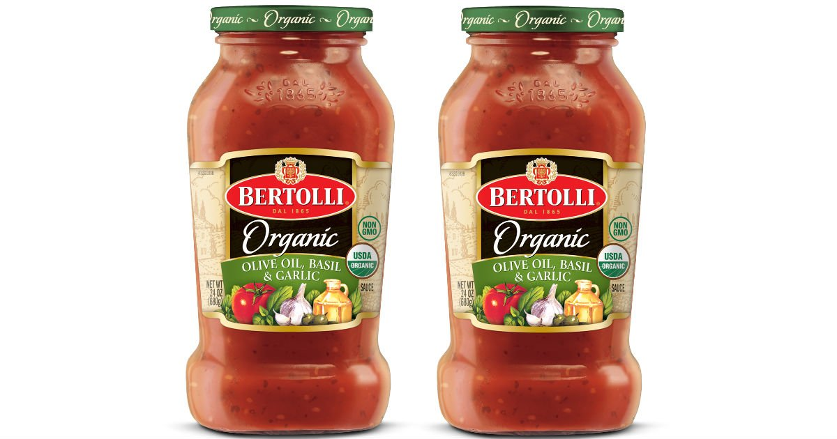 Bertolli Organic Pasta Sauce Only $1.48 at Walmart