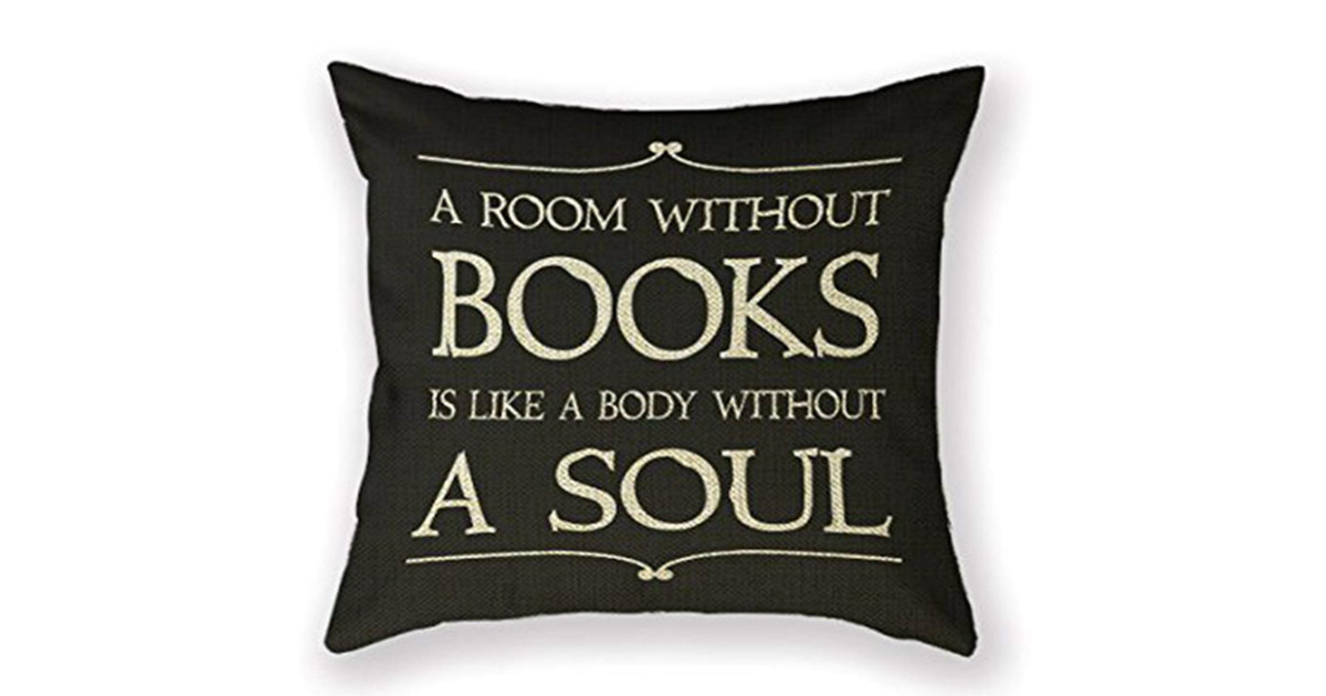Book Lover Pillow Cover Only 1 54 Free Shipping Daily