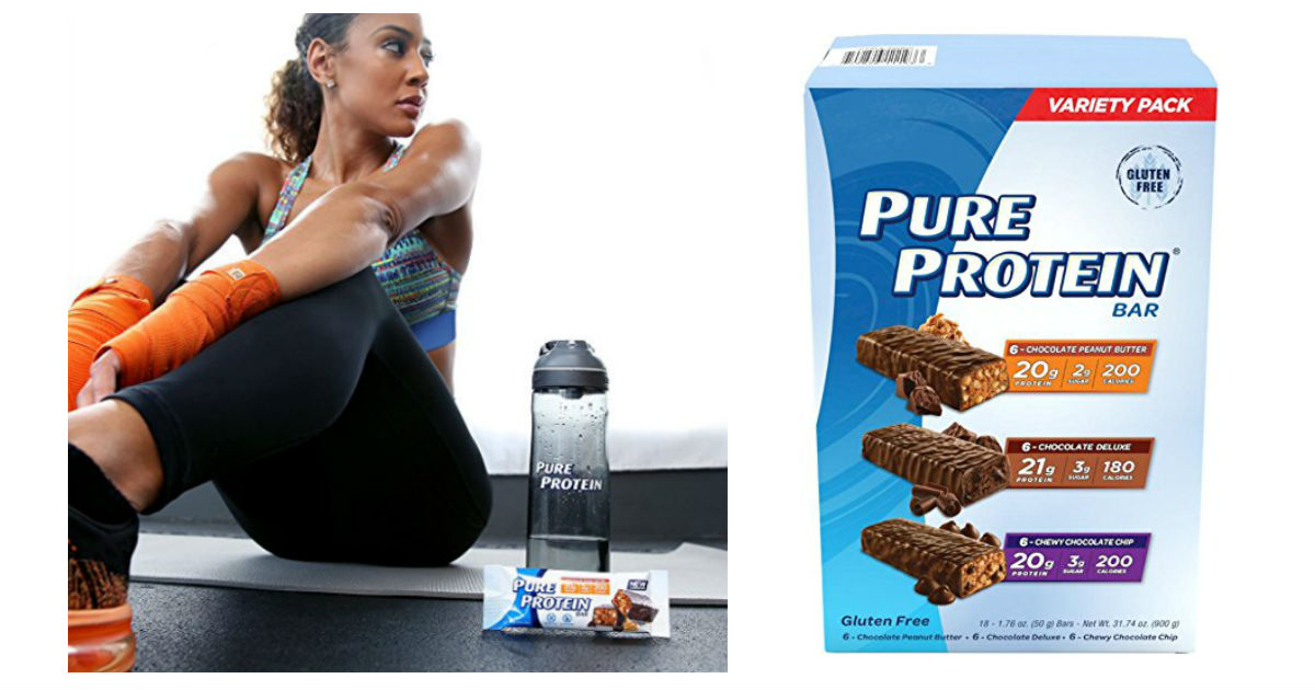 Pure Protein Bars 18-Count Variety Pack ONLY $13.99 at Amazon