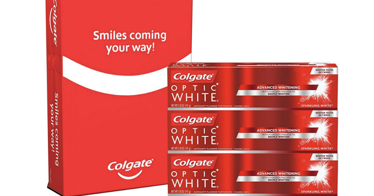 Colgate Optic White Toothpaste 3-Pack ONLY $7.30 Shipped