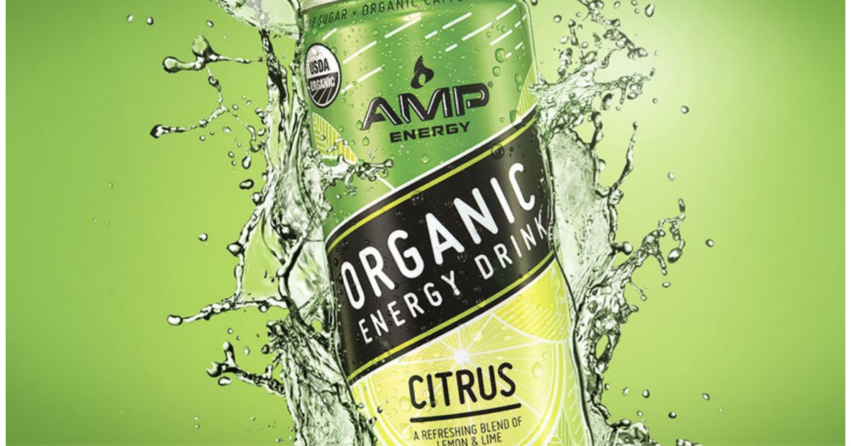 AMP Organic Energy Drink 12-Pack ONLY $10.50 Shipped