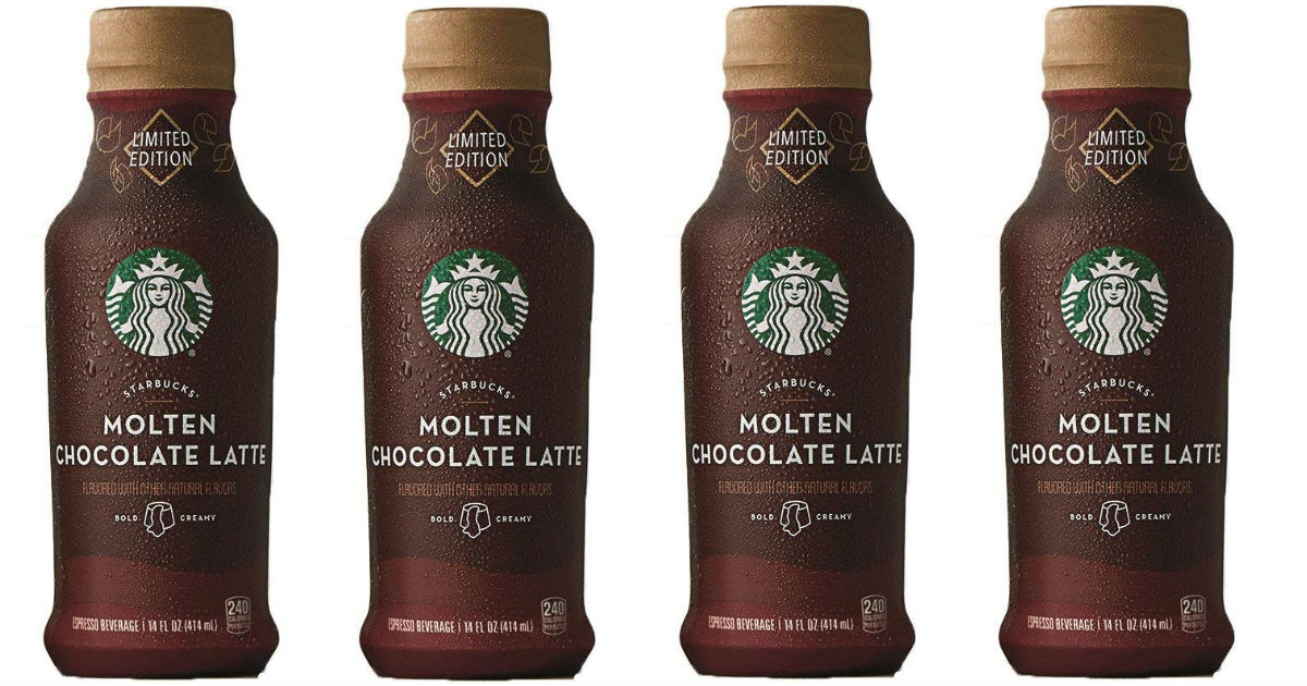Starbucks Iced Espresso Molten Chocolate Latte 8-Pk Only $12