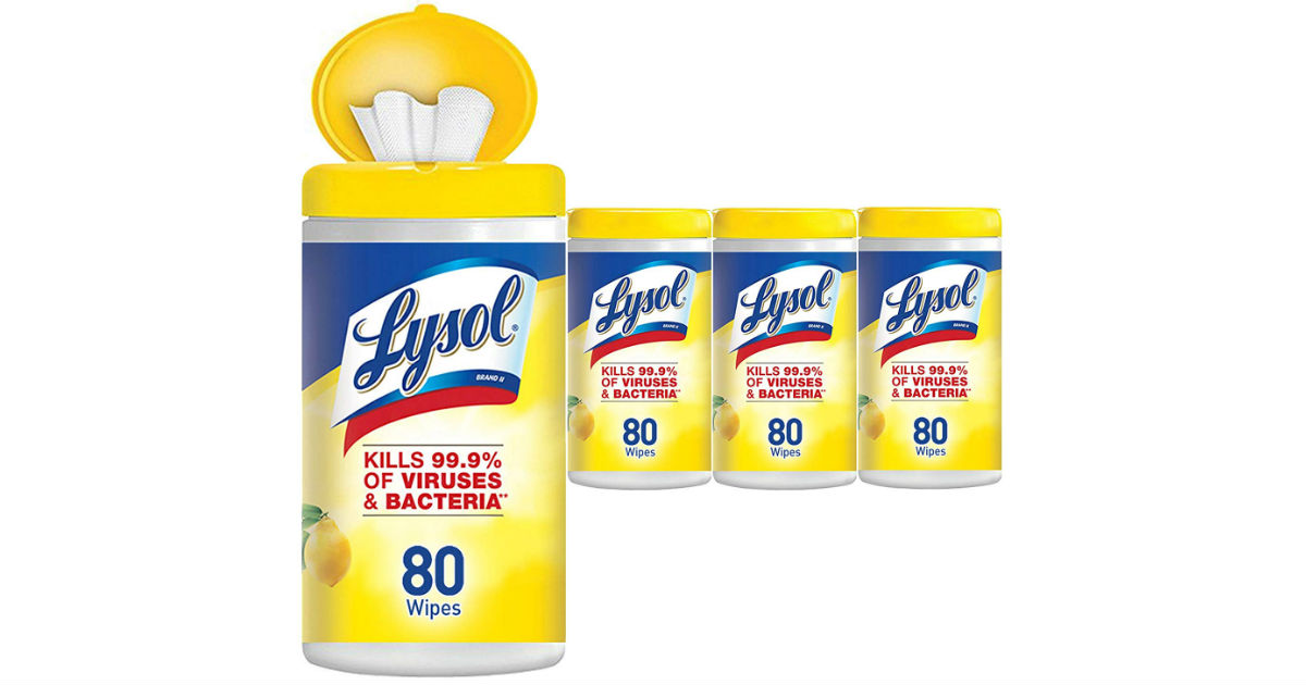 Lysol Disinfecting Wipes 80ct 4 Pack $9.10 Shipped on Amazon