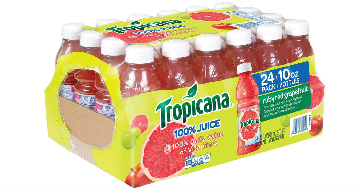 Tropicana Ruby Red Grapefruit Juice 24-pk ONLY $10.15 at Amazon