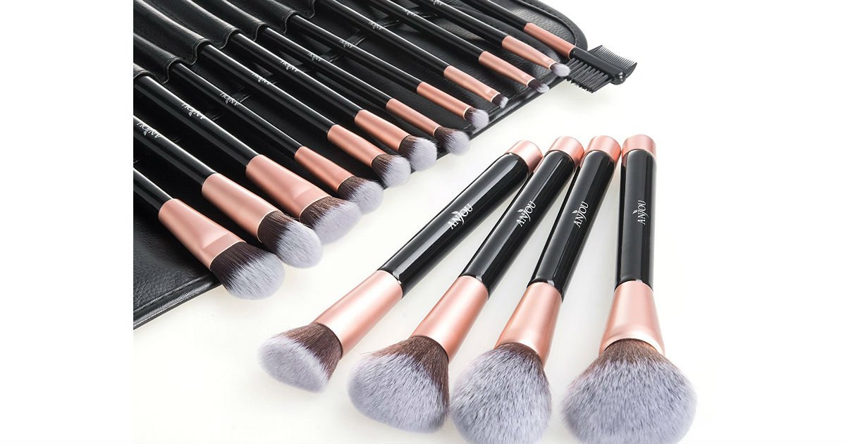 Anjou 16-Piece Makeup Brush Set ONLY $11.99 at Amazon
