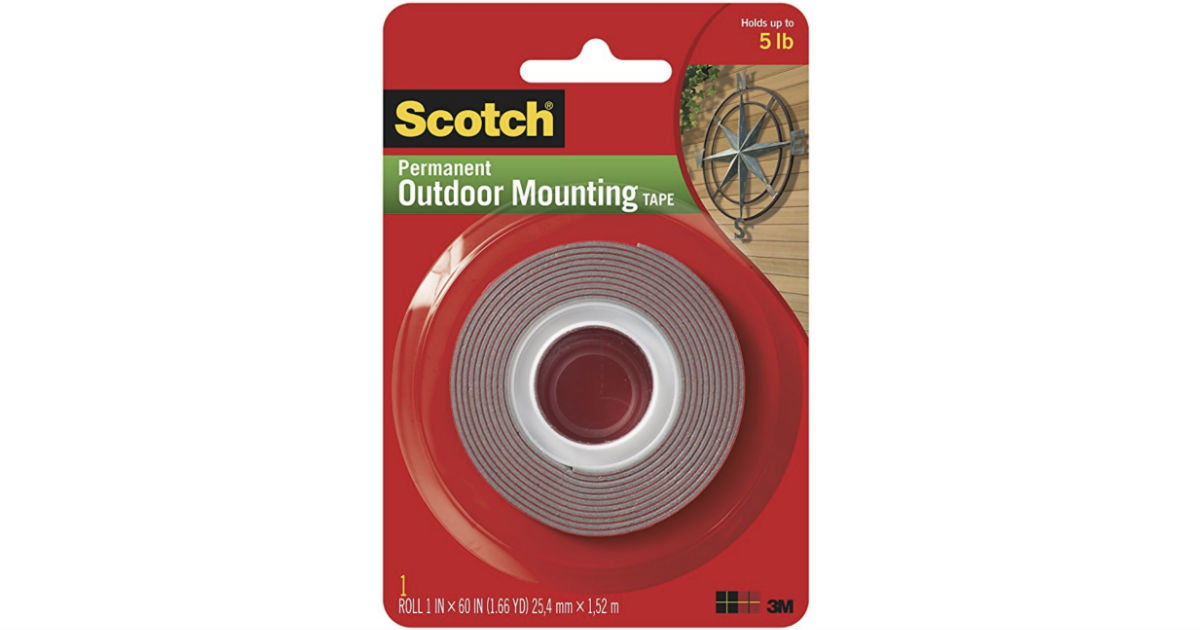 3M Scotch Outdoor Mounting Tape ONLY $2.84 at Amazon