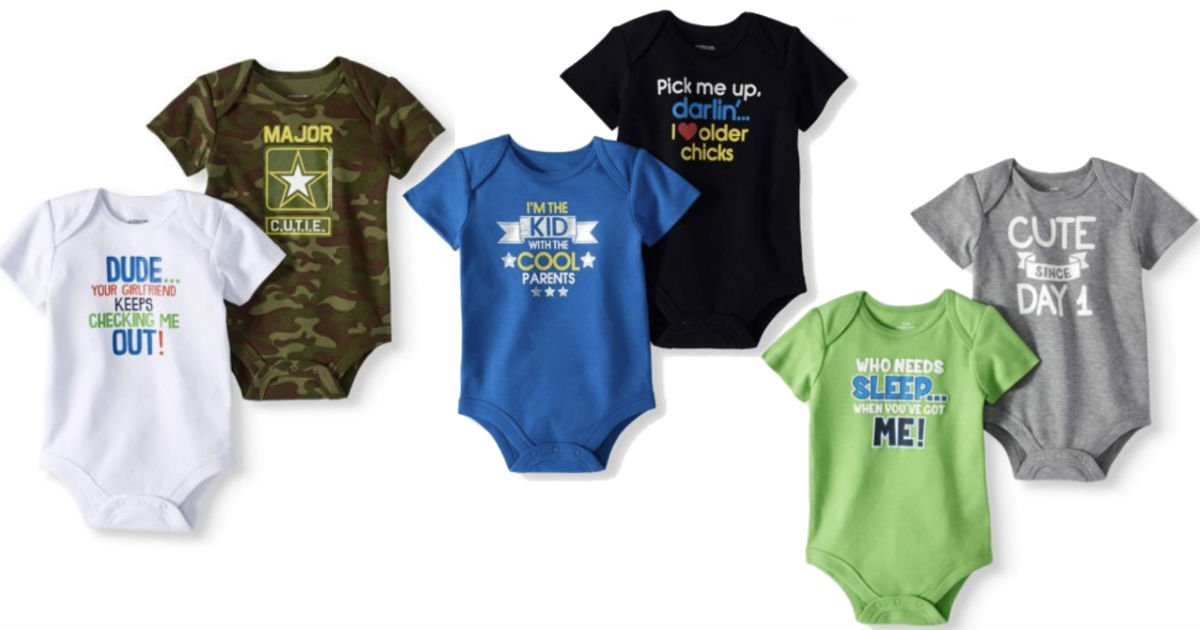 Baby Boy Bodysuits 2-pk ONLY $...