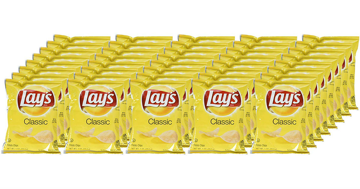 Lay's Single Serve Potato Chip Bags 40 ct ONLY $9.03 Shipped