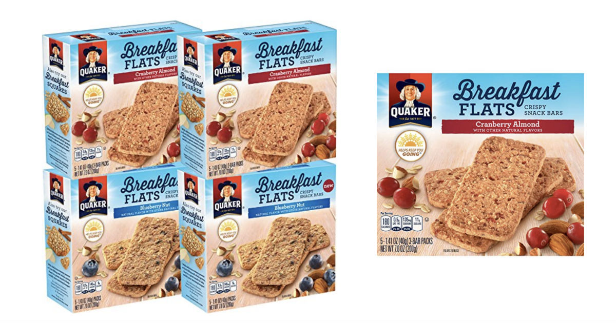Four Boxes Quaker Breakfast Flats Only $11.24 Shipped