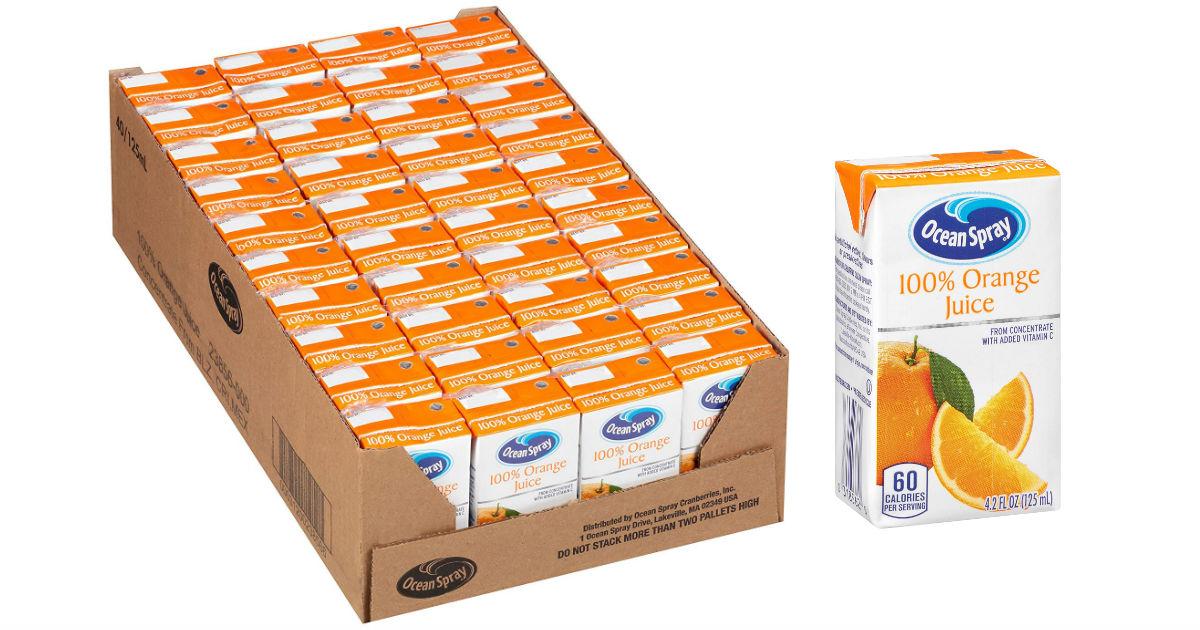 Ocean Spray 100% Orange Juice.