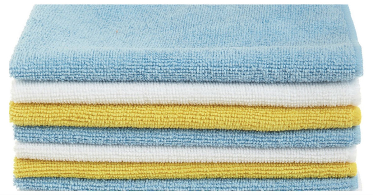 AmazonBasics Microfiber Cleaning Cloths 48pk ONLY $11.87 Shipped
