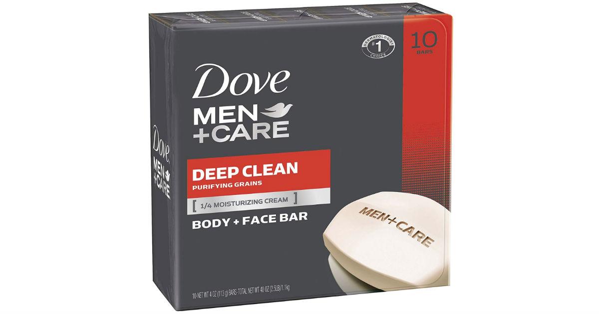 Dove Men+Care Bar Soap 10-Pk ONLY $7.96 Shipped