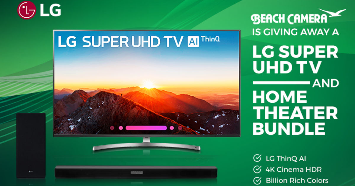 Win a LG Super UHD TV and Home Theater Bundle - Free