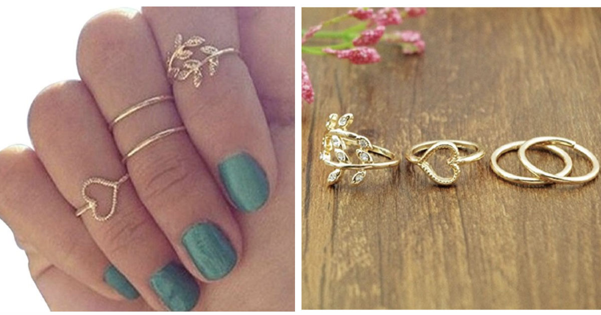 Joint Knuckle Nail Ring Set of...