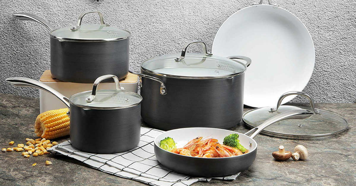 Save 56% Cooksmark 8-Piece Cookware Set Only $62.29 on Amazon