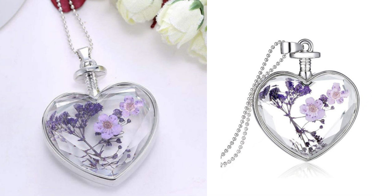 Lavender Romantic Hearts Neckl...