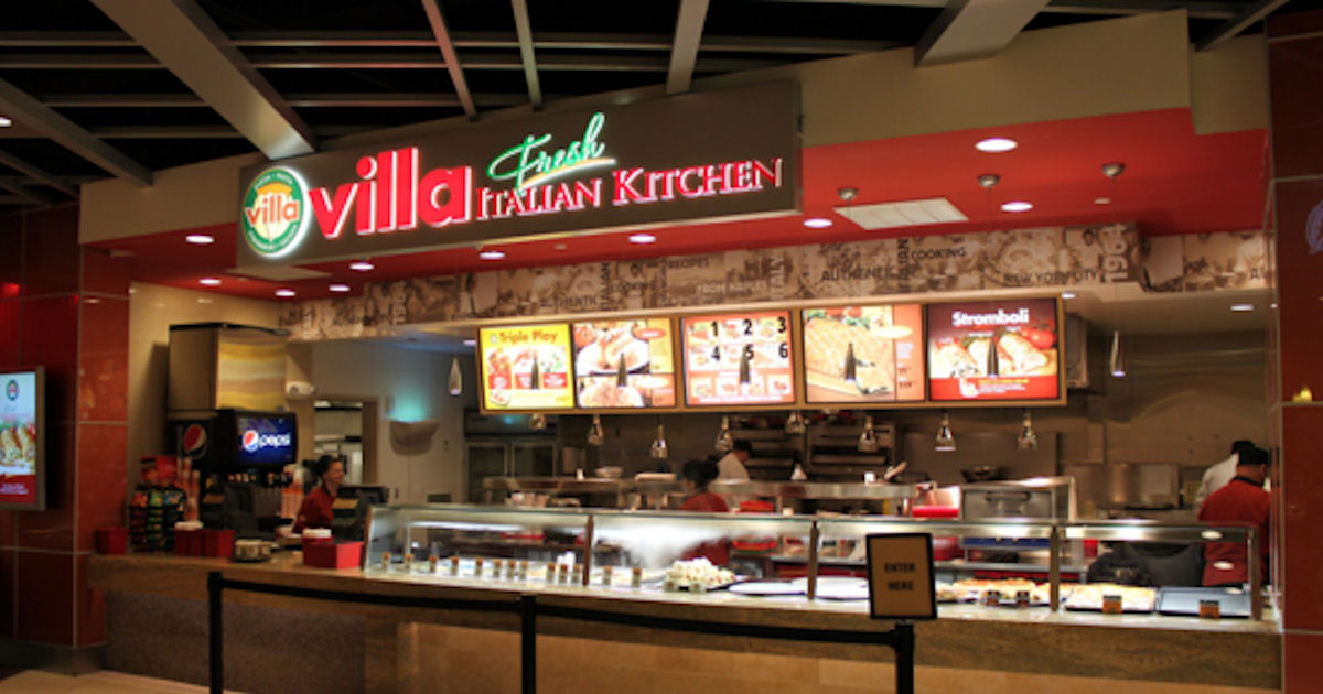 Villa Italian Kitchen Free Slice Of Cheese Neopolitan Pizza Free