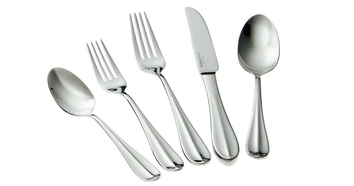 Save 50% on Cuisinart 20-Piece Flatware ONLY $39.99 (Reg. $80)