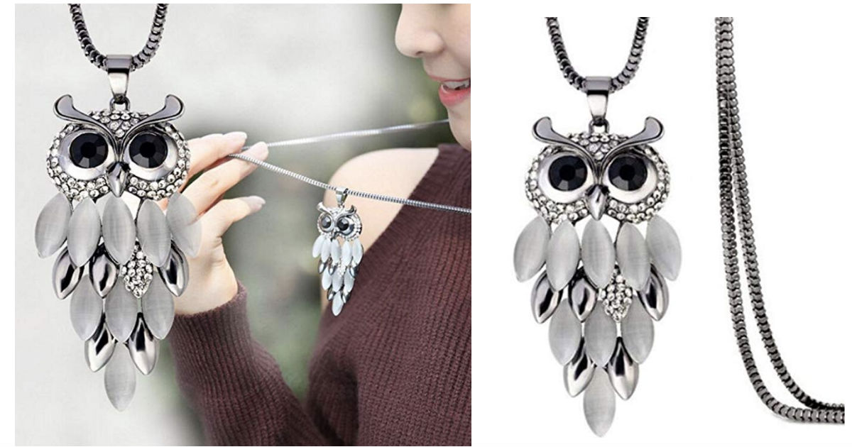 Owl Pendant Necklace ONLY $4.6...