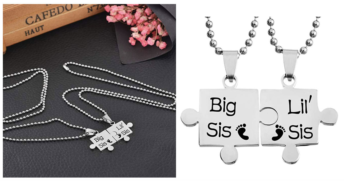 Lettering Stainless Steel Necklace Pendant Set ONLY $4 Shipped