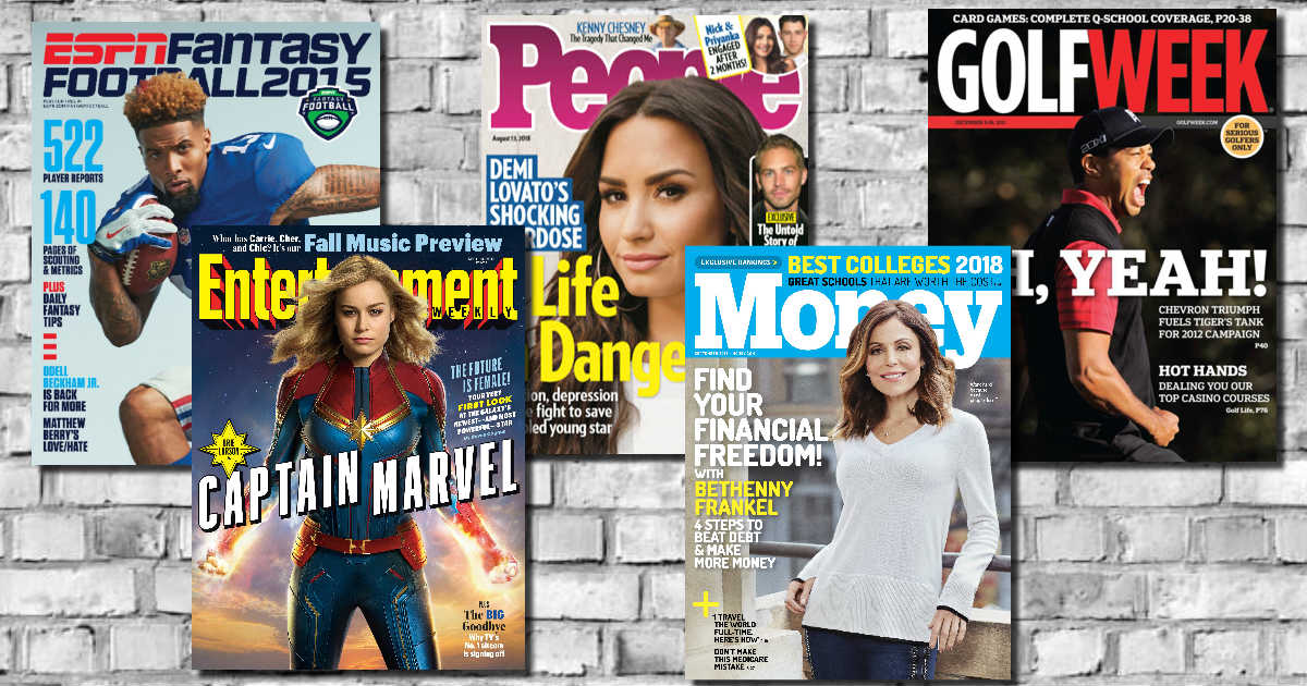 10c21c78f92 25 Complimentary Magazine Subscriptions - Most Available EVER - Free ...
