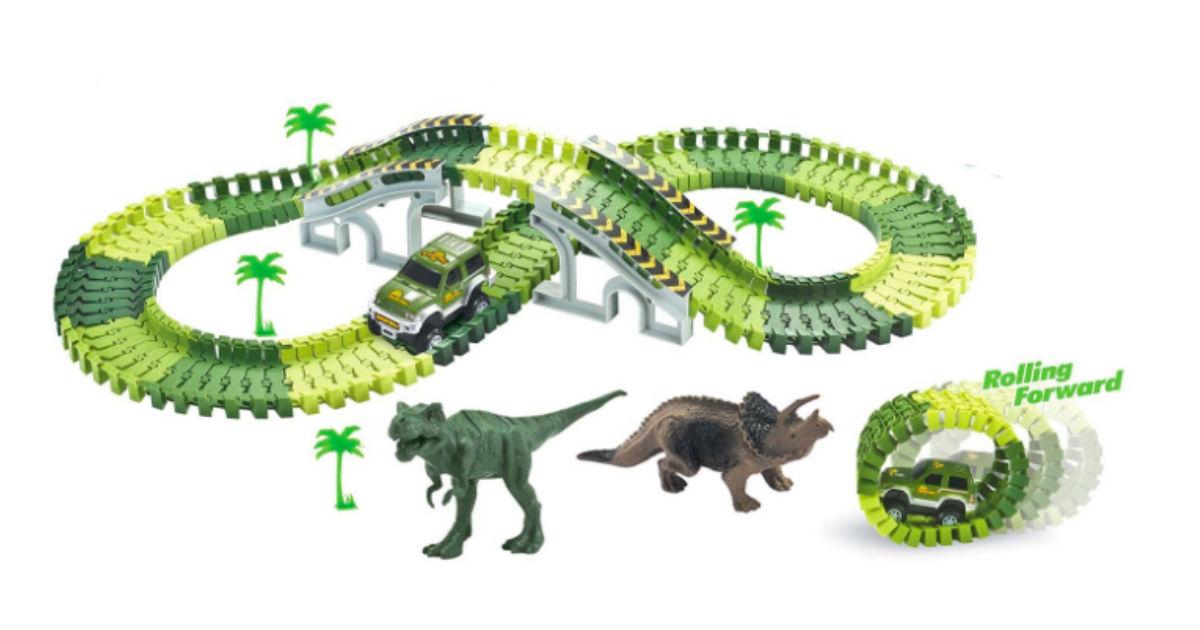Save 63% on Dinosaur Track Set on Amazon ONLY $29.99 (Reg. $80)