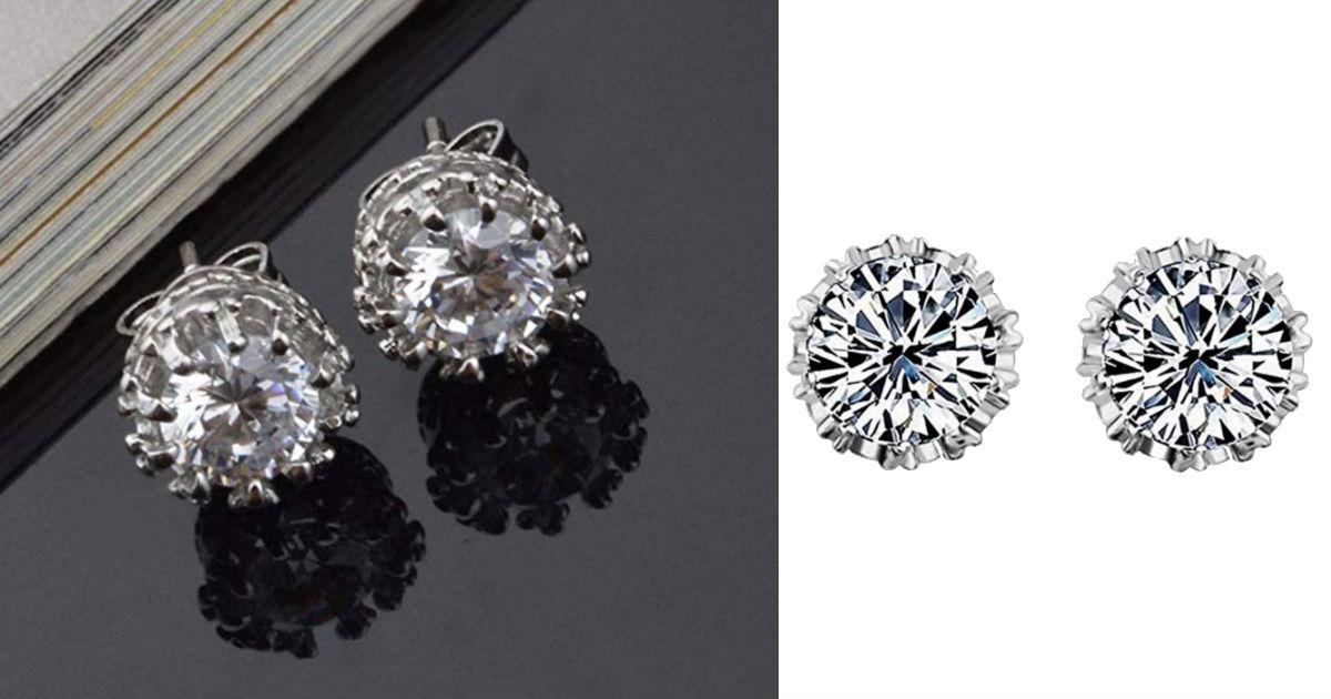Simple Fashion Diamond Ear Stu...