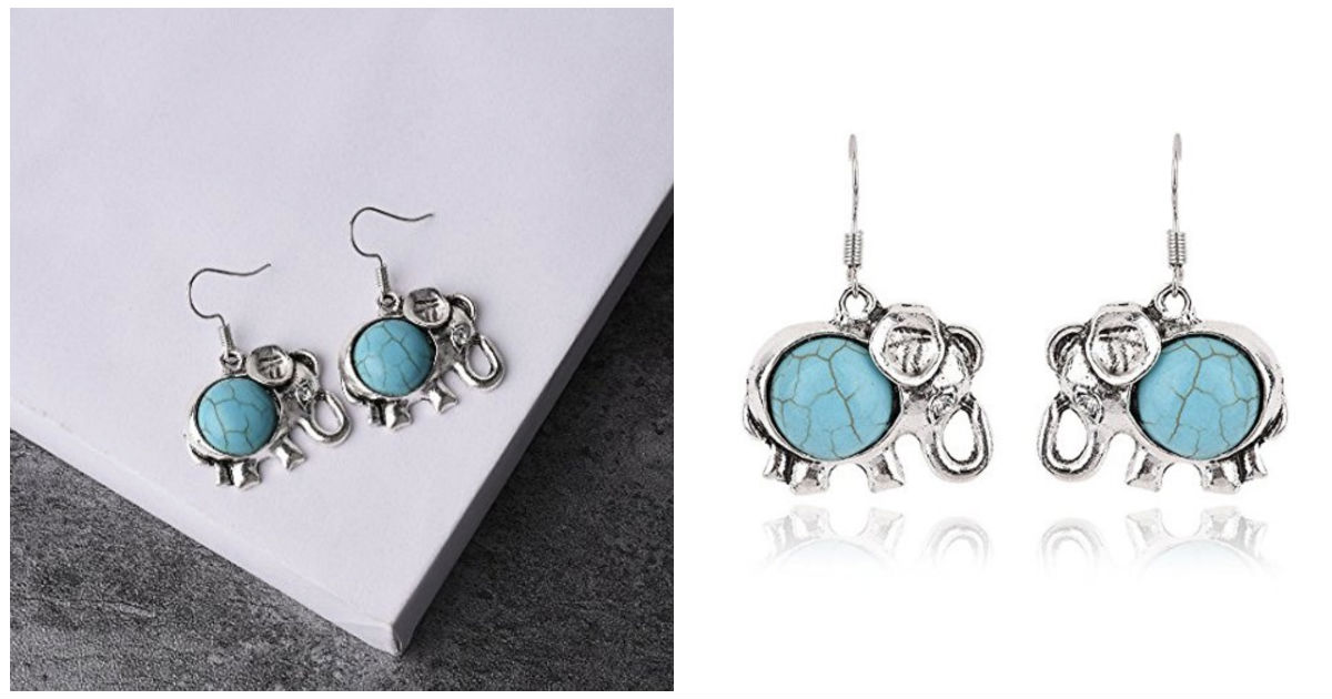 Girls Elephant Stud Earrings O...