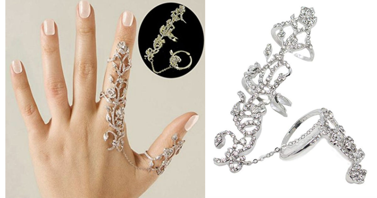 Crystal Stack Knuckle Band Finger Rings Set ONLY $3.99 Shipped
