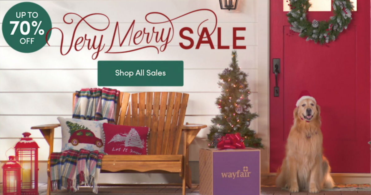 wayfaircom is having a huge christmas decor sale with 70 off plus sign up to score an extra 10 off sign up your email and youll receive a promo code - Wayfair Christmas