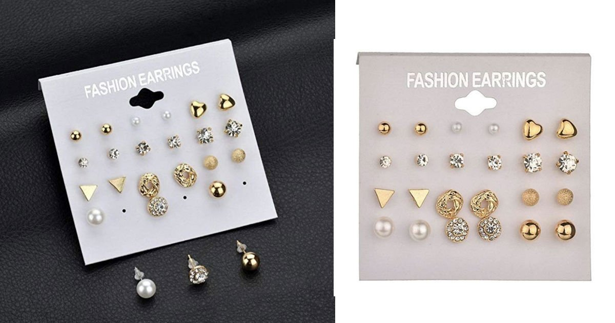 Staron 12 Pairs Fashion Earrin...