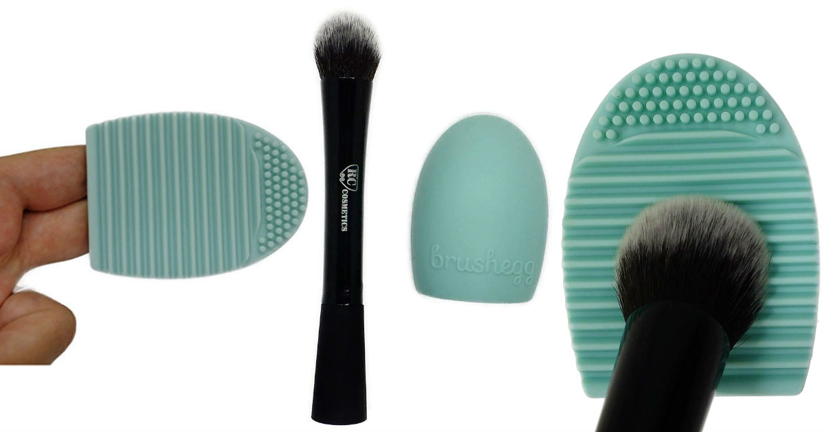 Brush Egg Cosmetic Make-Up Brush Cleaning Tool ONLY $1 Shipped