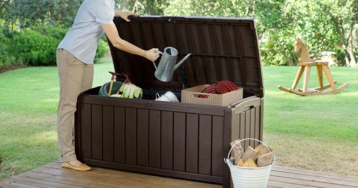 Keter Glenwood Outdoor Storage Box $69 (Reg. $130) Shipped
