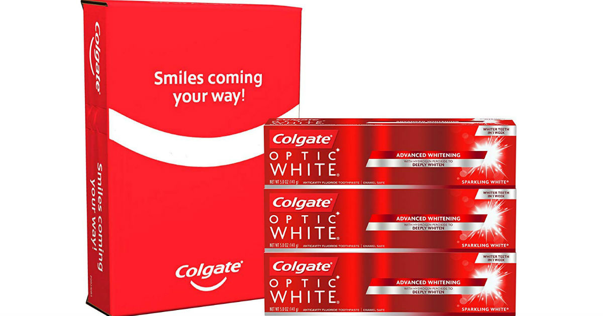 Colgate Optic White Toothpaste 3-Pack ONLY $7.31 Shipped