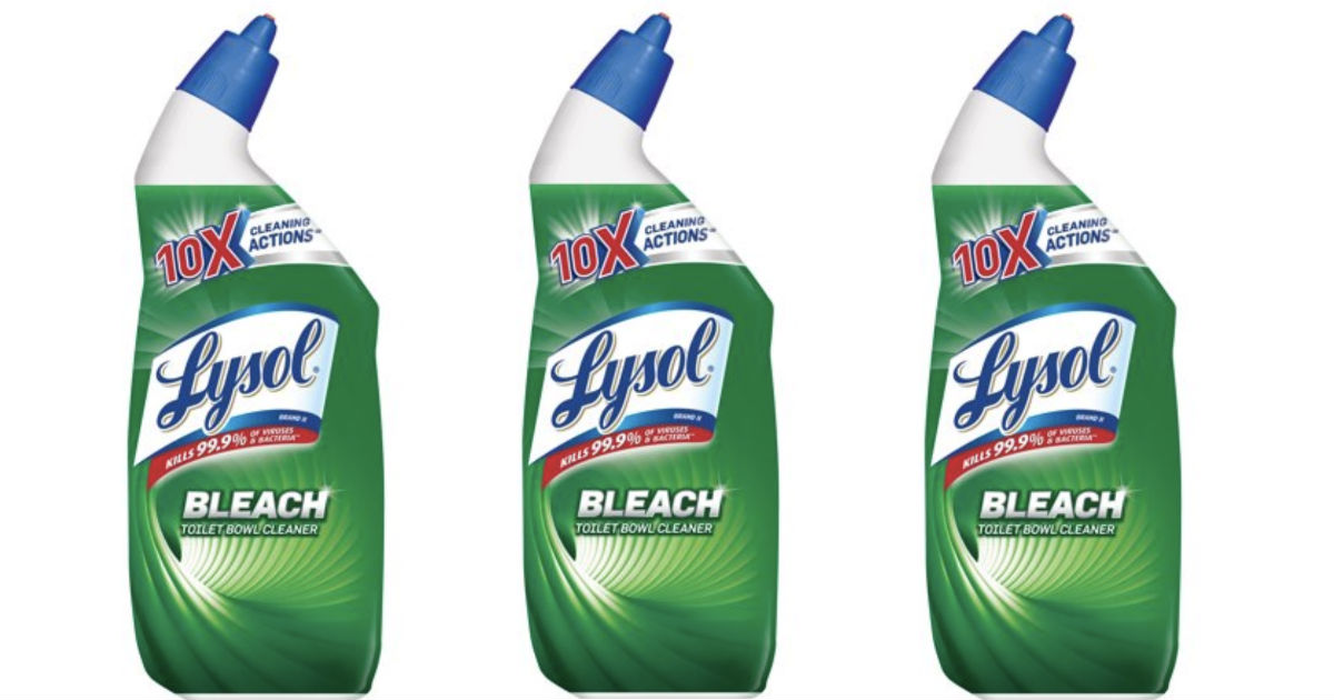 graphic regarding Lysol Printable Coupons identified as Lysol Bleach Lavatory Bowl Cleaner Merely $1.27 at Walmart